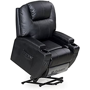 Frivity Power Lift Recliner Chair Classic And Traditional Bonded Leather 1  Seat Sofa Lift Reclining Armchair