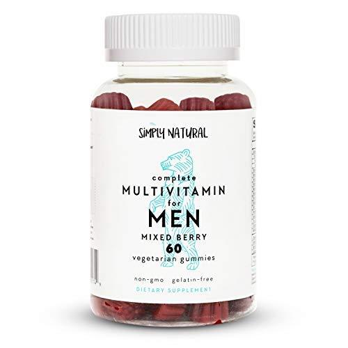 Multivitamins for Men: Vitamin D3, Vitamin B12/B6, Vitamin A, Biotin, Vitamin E, Lycopene for Prostate Health*, Niacin, Non-GMO, Vegetarian/Low-Sugar Gummies; 60 Count, (30 Day Supply)