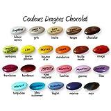 Dragées personnalisées avec votre texte- Couleur turquoise (dragées chocolat 70% de cacao) sachet de 100g
