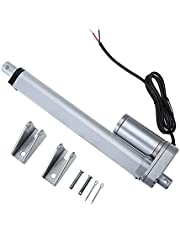 Artilife Linear Actuator Multiple Sizes 100-300mm High Speed 10mm/s Linear Actuator Motor 900N Load Capicity 12V DC with Mounting Brackets,Silver