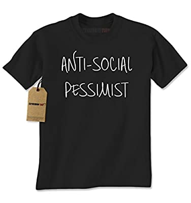 Expression Tees Anti-Social Pessimist Here Mens T-shirt