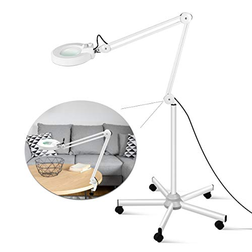 LED Floor Lamp, Innqoo LED Esthetician Light, Magnifying Glass With Light, Lighted Magnifier for Reading, Crafts & Pro Tasks, Adjustable & Dimmable by Innqoo (Image #6)