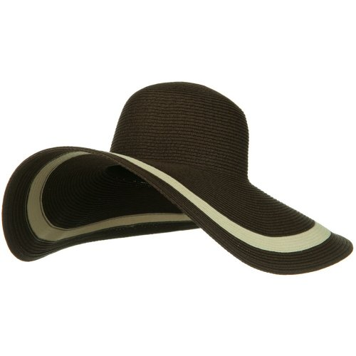 Solid Peak Ladies Wide Brim Toyo Hat - Brown - Toyo Hat Wide Braid