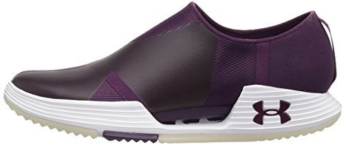 Under Armour Womens Speedform amp 2.0 Slip, Merlot/White/Merlot, 7.5 B(M) US