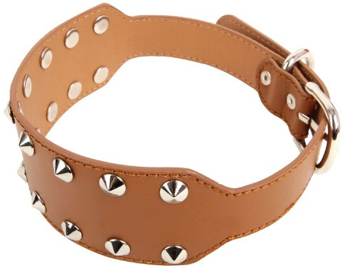 Puppia Max Leather Collar, Brown, Large