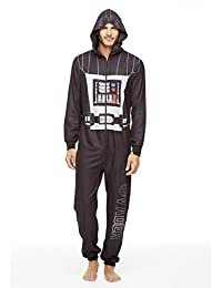 Star Wars Family Pajamas, Mens Darth Vader Blanket Sleeper Onesie Size XL