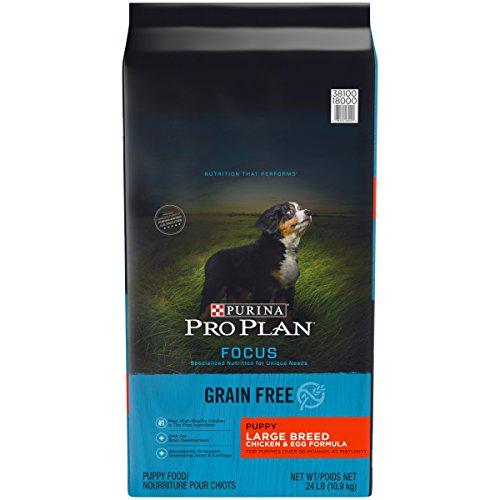 Purina Pro Plan Grain Free Large Breed Dry Puppy Food, FOCUS Chicken & Egg Formula - 24 lb. Bag