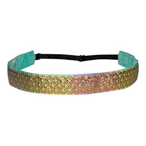 Ariel Bandeau - BEACHGIRL Bands Headband Adjustable Non-Slip Hair-Band Women & Girls Golden Mermaid