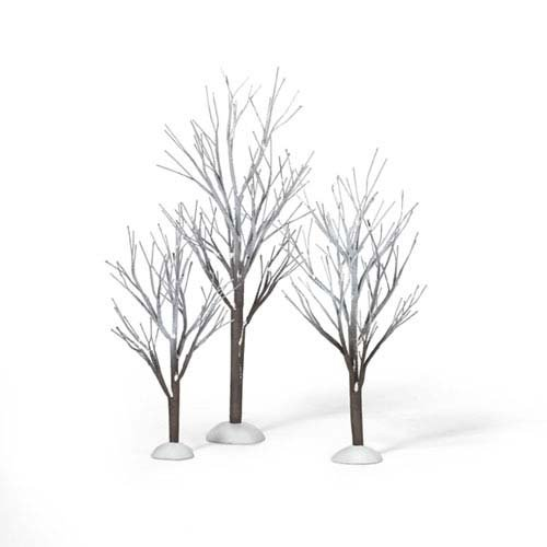 Department 56 Snow Village First Frost Trees (Set of 3) ()