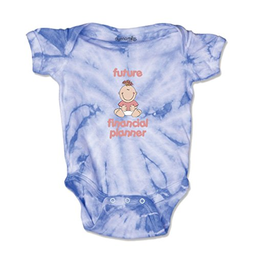 Future Financial Planner Baby Kid Tie Die Fine Jersey Bodysuit Carolina Blue 24 Months