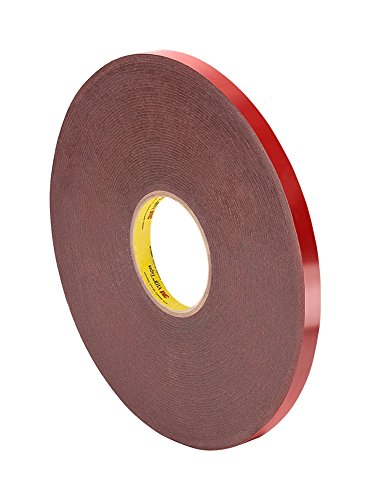 (3M VHB 4611 Tape Roll - 0.375 in. (W) x 108 ft. (L) Dark Gray Acrylic Adhesive - Double Sided Tape with Viscoelastic Firm Foam Core)