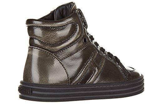 Hogan Rebel BabyschuheSneakers Kinder Baby Schuhe High Turnschuhe Leder Braun
