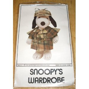 Original Sherlock Holmes Costume (Rare! Peanuts Snoopy's Wardrobe for 11