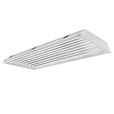 Four Bros Lighting BayBrite, 8 Lamp LED Linear High Bay Light Fixture - 176W (600W Equivalent), 25600 Lumen, 5000K (Daylight), Indoor Shop Warehouse Industrial Lighting, DLC and UL