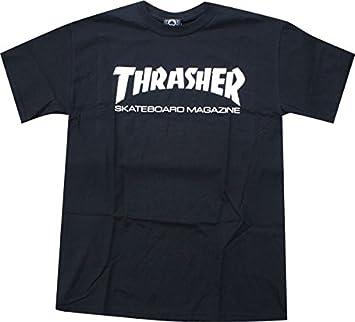 06912923dfbd Thrasher Skate Mag T-Shirt [Small] Black/White by Thrasher Magazine: Amazon. co.uk: Sports & Outdoors