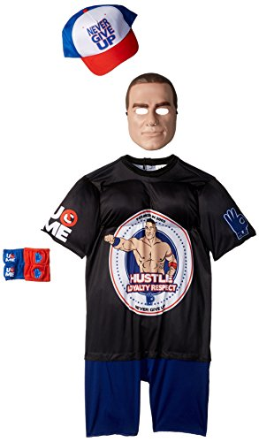 John Cena Classic Muscle WWE Costume, Black, Small (4-6) by Disguise
