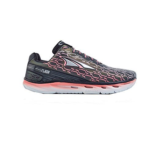 Altra Women's Impulse Flash Sneaker, Black/Sugar Coral, 8.5 D US