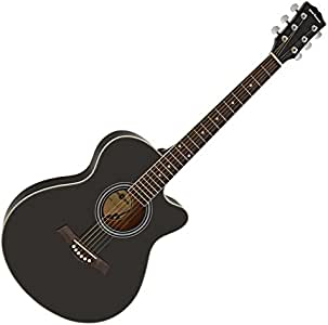 Guitarra Acustica Single Cutaway de Gear4music - Negro: Amazon.es ...