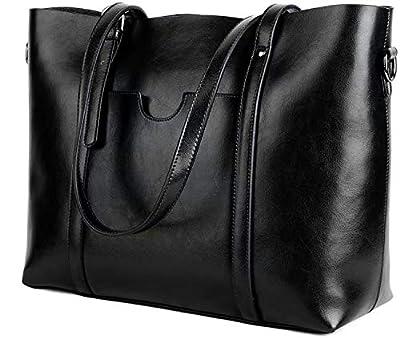 Yun&Luo Women Vintage Shoulder Tote Bag Purse Soft Leather Top Handle Satchel Handbags
