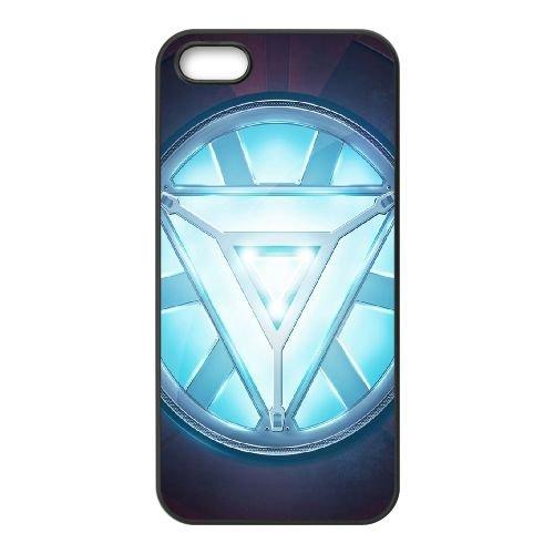 Iron Man Heart coque iPhone 5 5S cellulaire cas coque de téléphone cas téléphone cellulaire noir couvercle EOKXLLNCD24611