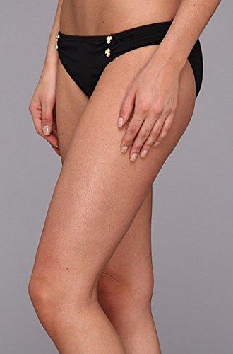 Juicy Couture Women's Miss Divine Heart Button Classic Swim Bottom Black Size XS