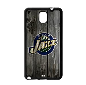 Fitted Samsung Galaxy Note 3 TPU Case Utah Jazz Logo Background-by Allthingsbasketball