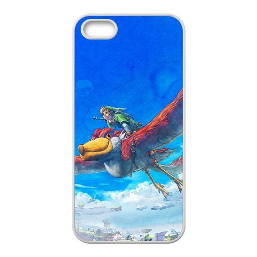 5s Case, iPhone 5 5s Case - Fashion Style New The Legend of Zelda Painted Pattern TPU Soft Cover Case for iPhone 5/5s(Black/white)