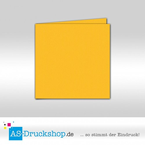 Faltkarte Doppelkarte - Ocker 50 Stück Quadratisch 157 x 157 mm B0794YBRP9   Vorzüglich