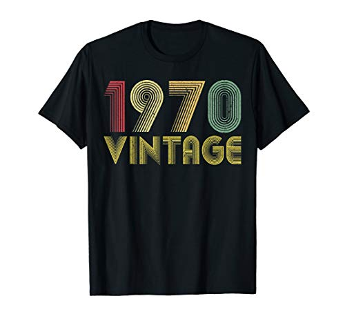 Vintage 1970 49th birthday gift 49 Years old Funny T-Shirt (Birthday Present For 49 Year Old Man)