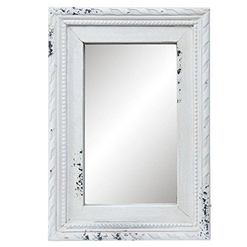 Clayre & Eef 62S117 Spiegel mit Rahmen in weiß 14x2x20 cm ...
