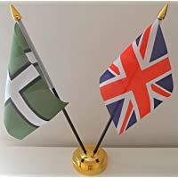 9 x 6 Switzerland Swiss Large Desktop Table Flag With Wooden Base /& Pole Ideal For Party Conferences Office Display