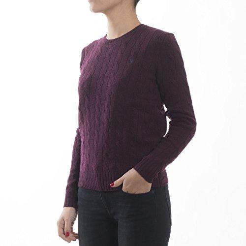 Julianna Sweater Sleeve Pull Polo Long Bordeaux Lauren Femme Ralph Classic YqwqE71