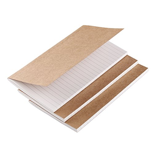 Refill Inserts for Medium Leather Travelers Notebook 6.7 x 4 - Set of 3 - Line
