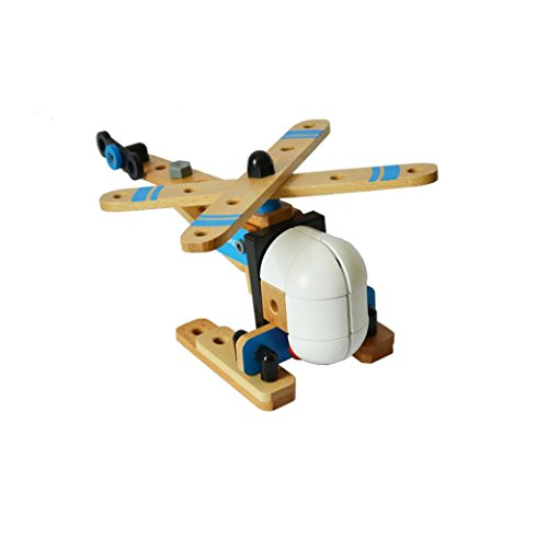 OVERMAL Wooden Toys DIY Manual Assembly 3D Puzzle Model Children's Educational Aircraft by OVERMAL