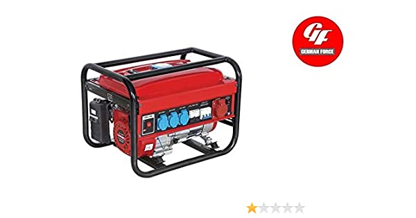 GENERADOR ELECTRICO GASOLINA GERMAN FORCE 15L 5500W (1000W+1000W + ...