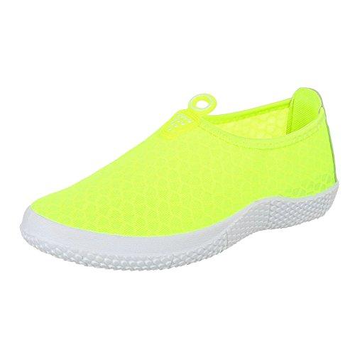 Ital-Design - Zapatillas de casa Mujer amarillo