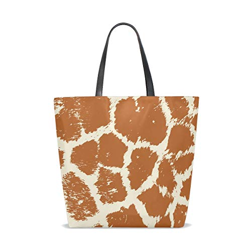 Única De Tote Bennigiry 001 Giraffe Talla Bolso Tela Para Mujer Colorful Animal Skin 7qxwR4