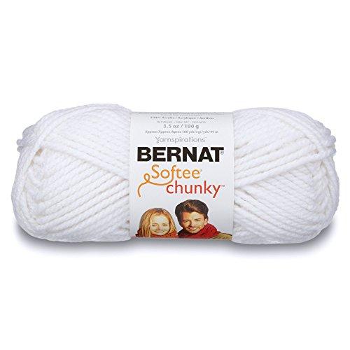 Bernat Softee Chunky Yarn, White, Single Ball