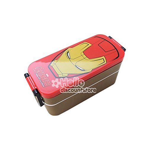 Marvel Iron Man Lunch Box Bento Case with Chopsticks