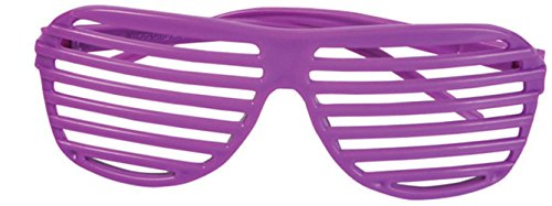 80's Neon Purple Toy Sunglasses Party Favors Costume Accessory (Randy Savage Costume Halloween)