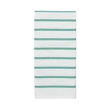 Kate Spade Grosgrain Stripe Kitchen Towel, 17 x 28 , Nisbet Blue