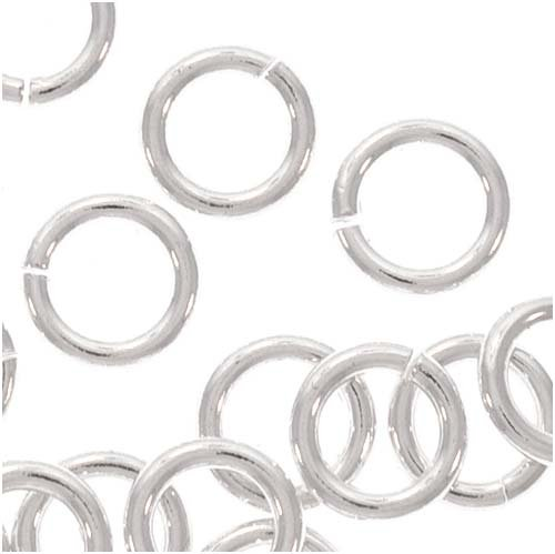 (50) 5mm Open Jump Rings Sterling Silver 19 gauge 36002