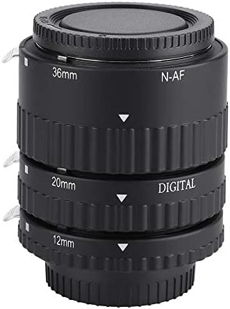 Oumij Camera Lens Ring Mcoplus Auto Focusing Macro Extension Lens Tube 12mm20mm36mm for Nikon F Mount DSLR Cameras NAFB