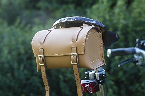 Classic Square Sattel/Lenker Fahrrad Tasche echt Leder honig Tan für Bike Werkzeuge