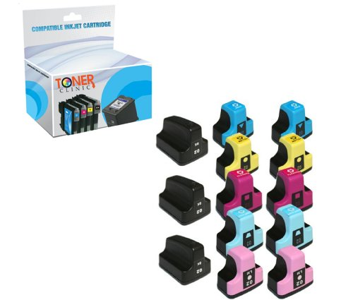 Toner Clinic TC-H02 13PK 3 Black 2 Cyan 2 Magenta 2 Yellow 2 Light Cyan 2 Light Magenta Compatible Inkjet Cartridge for HP 02 02XL 02-XL HP02 HP02XL For use in HP Inkjet Printers Photosmart 3108 3110 3210 3210-xi 3310 8230 8250 C5100 C5140 C5150 C5180 C5183 C6100 C6150 C6180 C6200 C6240 C6250 C6280 C6283 C7150 C7180 C7200 C7250 C7280 C7283 C7288 C8150 C8180 C8183 D6100 D6160 D7160 D7200 D7260 D7360 D7400 D7460 – 13 Pack Compatible Inkjet Cartridges, Office Central