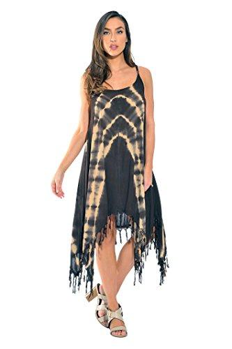 - Riviera Sun 21613-CB-1X Summer Dresses,Beige / Chocolate,1X Plus