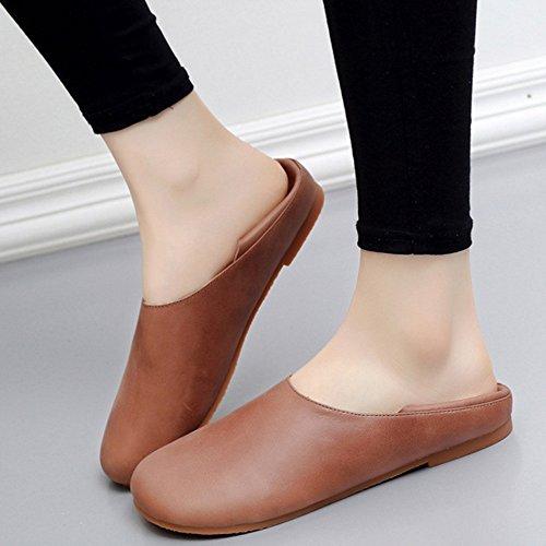 cómodos Punta CN35 Color Tamaño mujer ZHANGRONG UK3 Zapatos Zapatos Talón de 5 Primavera Verano B EU36 plano redonda C nTqWYzqf