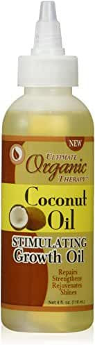Africa's Best Ultimate Organic Coconut Oil Stimulating Growth Oil, 4 Ounce