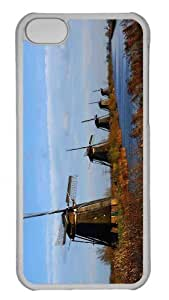 Customized iphone 5C PC Transparent Case - Windmill Farm Personalized Cover