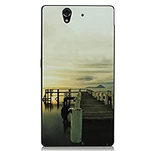 MOLLYCOOCLE Painted Series PC Case Sea Sunset Clouds Pattern Cover Skin Shell for Sony L36h